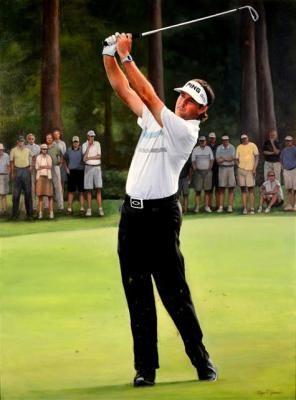 "Bubba Watson - 36""x48"" Oil on Linen"