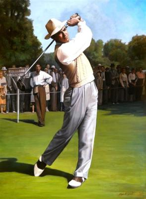 "Sam Snead - 36""x48"" Oil on Linen"